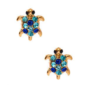 Gold-Toned Turtle Stud Earrings,