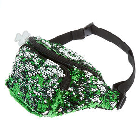 Reversible Sequin Shamrock Fanny Pack - Green,