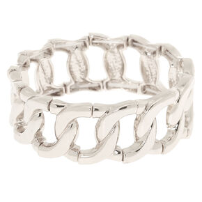 Silver Chain Stretch Bracelet,