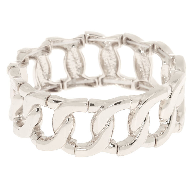 Silver Chain Stretch Bracelet,