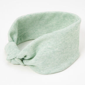 Ribbed Knotted Headwrap - Mint,