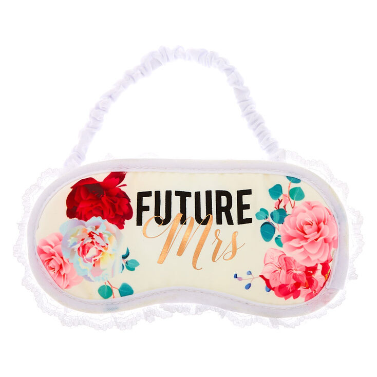 Future Mrs. Floral Lace Sleeping Mask - White,