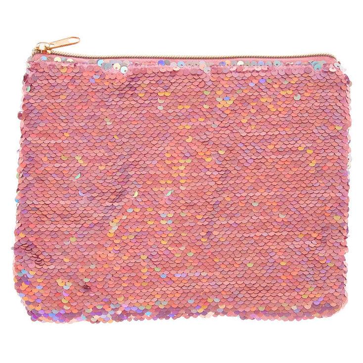 Reverse Sequin Makeup Bag - Pink,