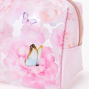 Butterflies and Roses Makeup Bag - Pink,