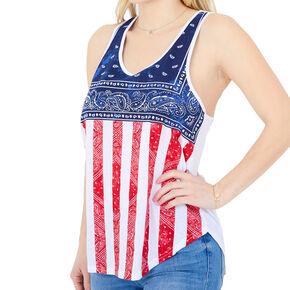American Flag Bandana Tank - White,