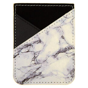 Marble Stick On Card Pocket,
