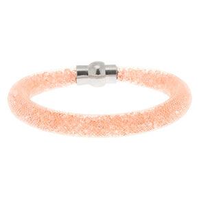 Mesh Bangle Bracelet - Blush,