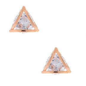 Cubic Zirconia 8MM Geometric Stud Earrings,