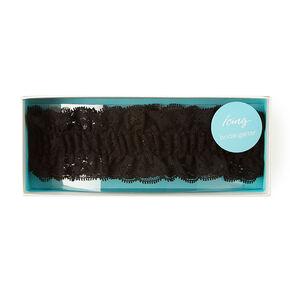 Black Lace Bridal Garter,