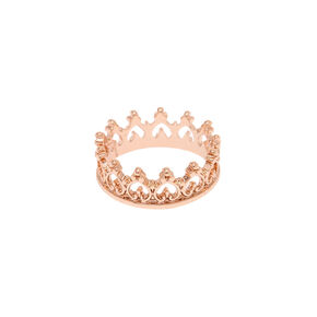 Rose Gold Crown Ring,