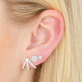 Silver Mixed Metal Piercing Party Set,