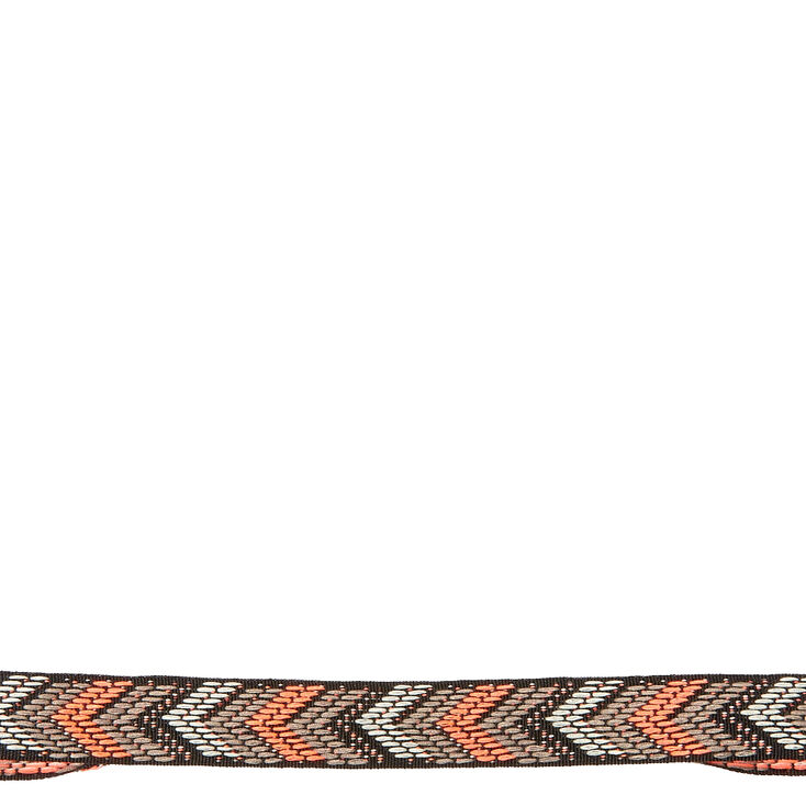 Black And Coral Chevron Headwrap,