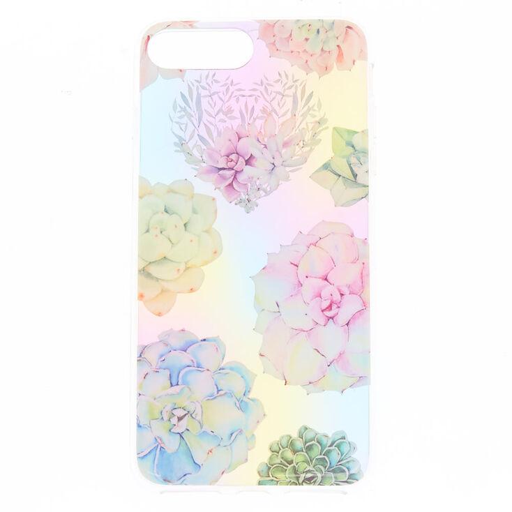Pastel Succulent Floral Phone Case - Fits iPhone 6/7/8 Plus,
