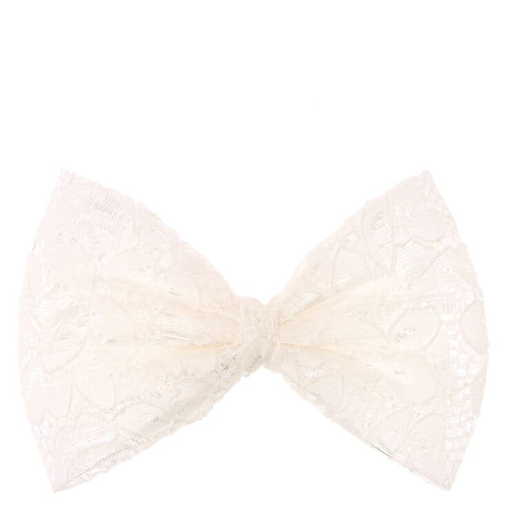 Ivory Bow Hair Barrette,