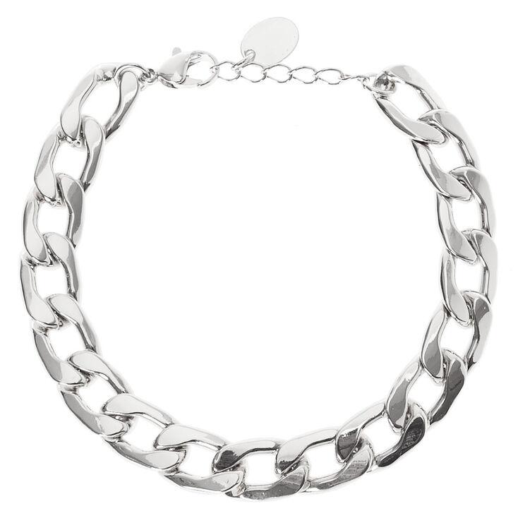 Silver Link Chain Bracelet,