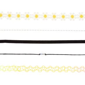 Assorted Daisy & Tattoo Choker Set - 5 Pack,