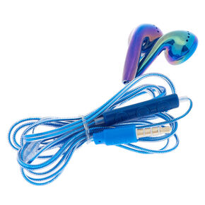 Mermaid Earbuds with Mic - Blue,