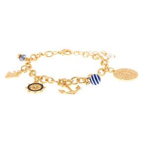 Gold Sailor Charm Bracelet,