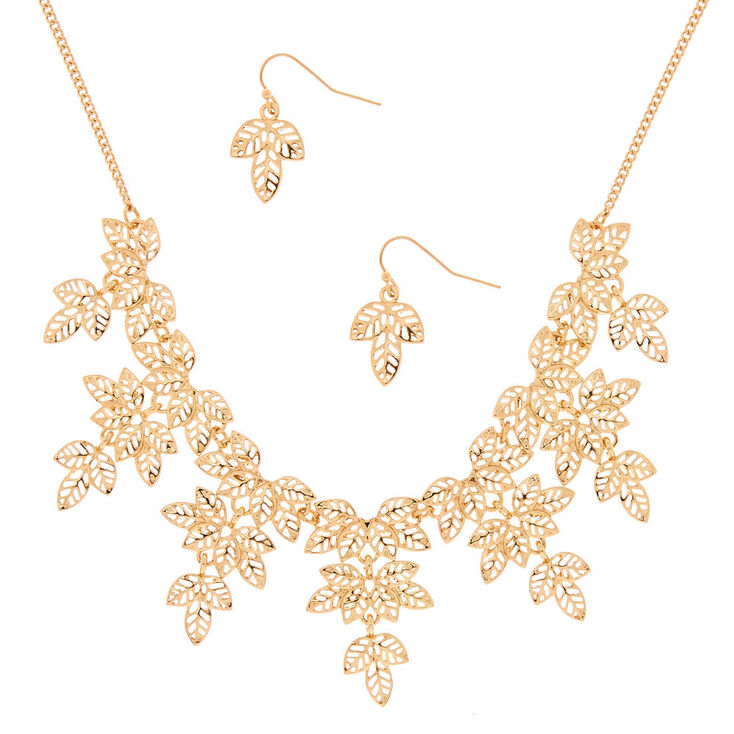 Gold Leaf Jewelry Set - 2 Pack,