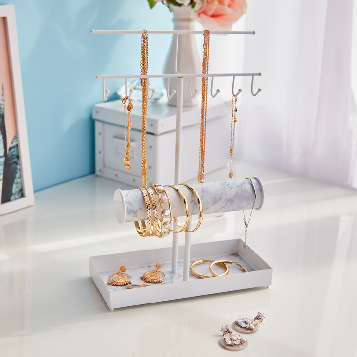 Marble Jewelry Holder - White,
