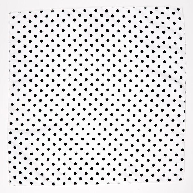 Polka Dot Bandana Headwrap - White,