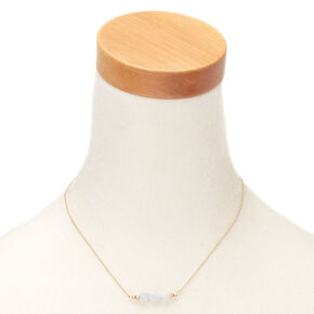 Blue Lace Agate Courage Pendant Necklace,