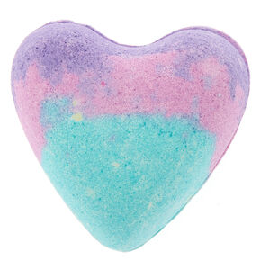 Birthday Cake Heart Bath Bomb - Purple,