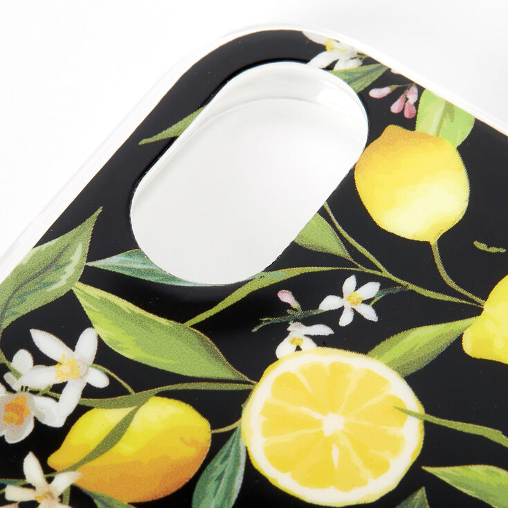 Black Lemon Protective Phone Case - Fits iPhone XR,