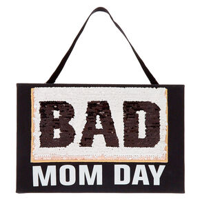 Good/Bad Mom Day Reversible Sequin Wall Décor,