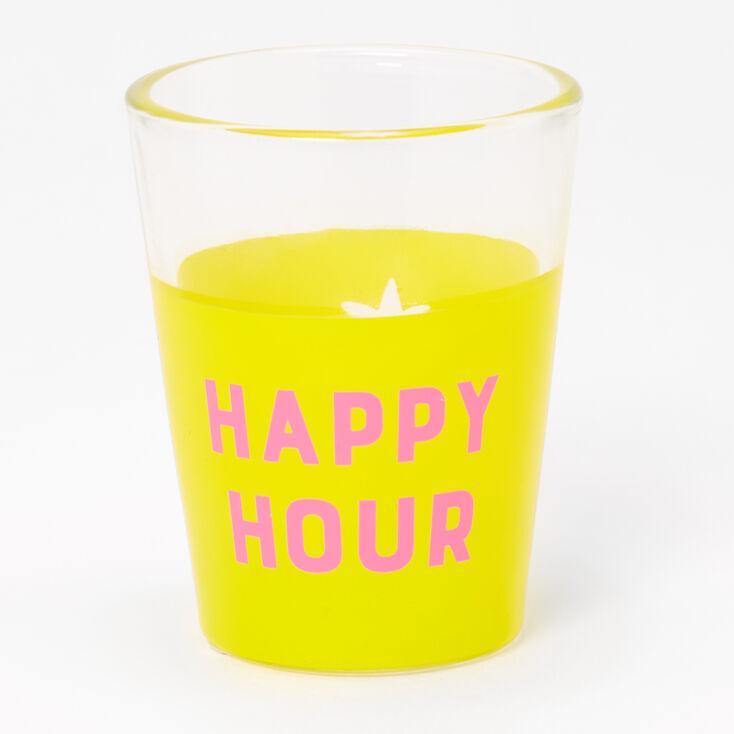 Happy Hour Pineapple Shot Glass - Yellow,