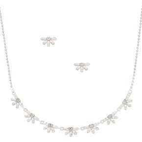 Silver Rhinestone Fan Jewelry Set - 2 Pack,