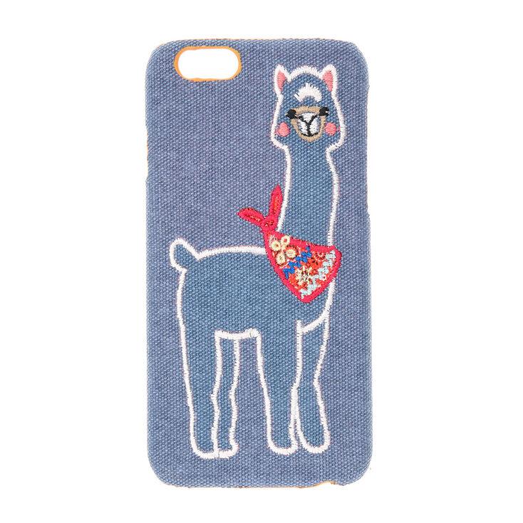 Blue Fabric Llama Phone Case,