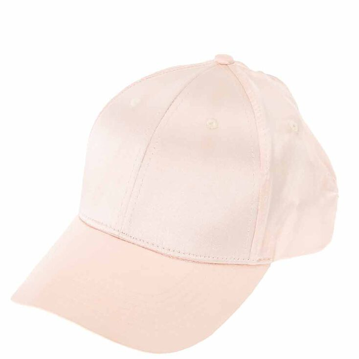 Blush Satin Baseball Cap,