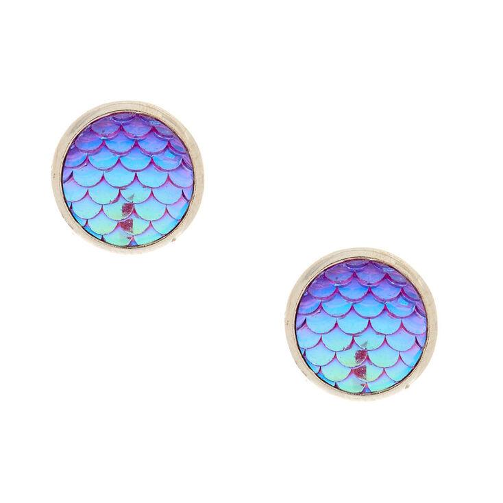 Mermaid Scale Stud Earrings,