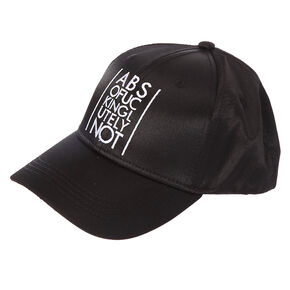 Black Satin ABSOFXCKINGLUTELYNOT Baseball Hat,