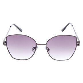 Square Cat Eye Sunglasses - Black,
