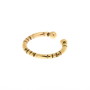 Goldl Tribal Faux Nose Ring,