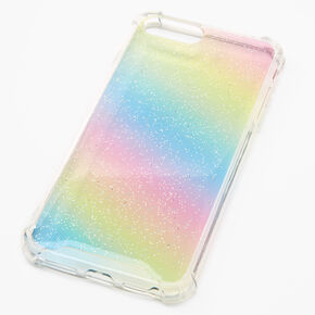 Pastel Glitter Rainbow Ombre Phone Case - Fits iPhone 6/7/8/SE,