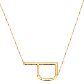Oversized Initial Pendant Necklace - P,
