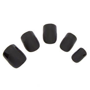 Shiny Faux Nail Set - Black, 24 Pack,