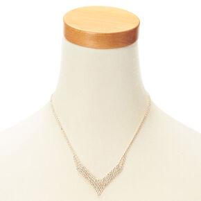 Crystal V Necklace & Earring Set,