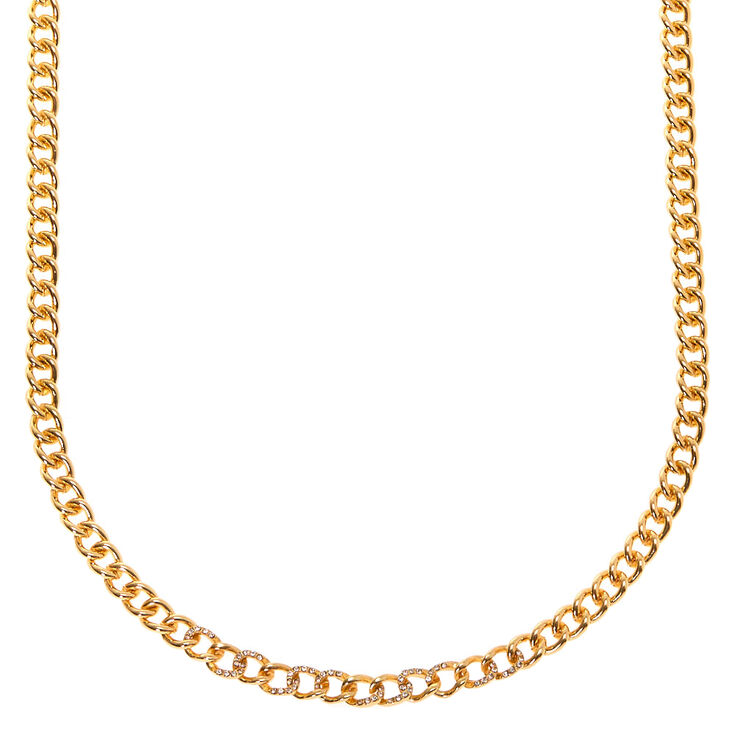 Vintage Style Jewelry, Retro Jewelry Icing Gold Chain Statement Necklace $9.99 AT vintagedancer.com