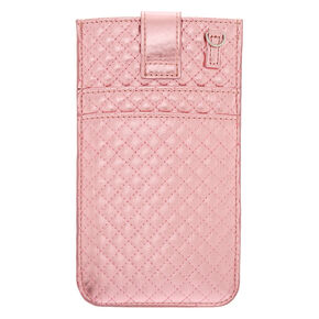Crossbody Quilted Phone Pouch - Pink,