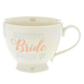 Resting Bride Face Ceramic Mug - White,