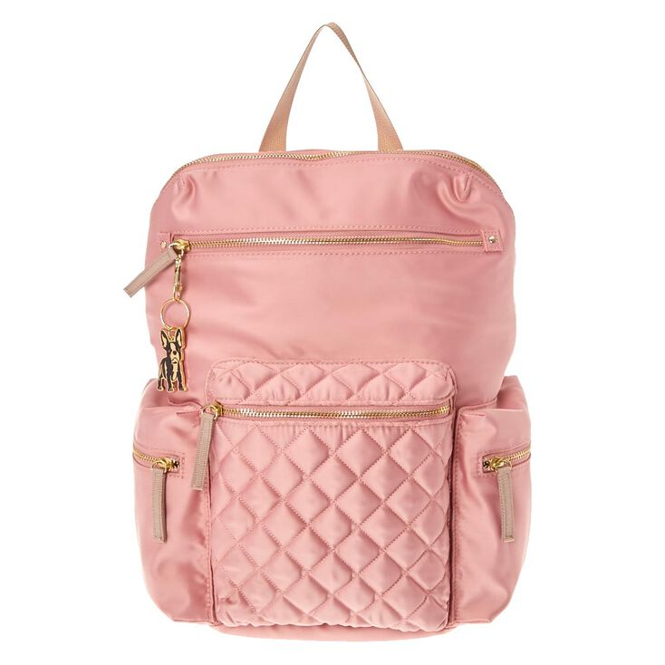 Quilted Medium Backpack - Pink,