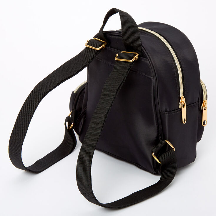 Nylon Small Backpack - Black,