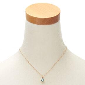 March Birthstone Pendant Necklace - Aquamarine,