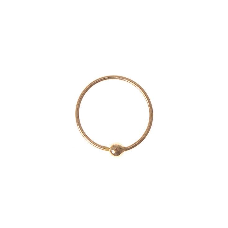 Sterling Silver Rose Gold Hoop Nose Ring,