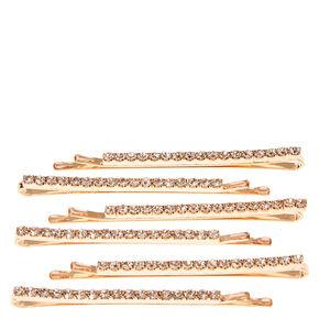 Rose Gold Linear Hair Pins,