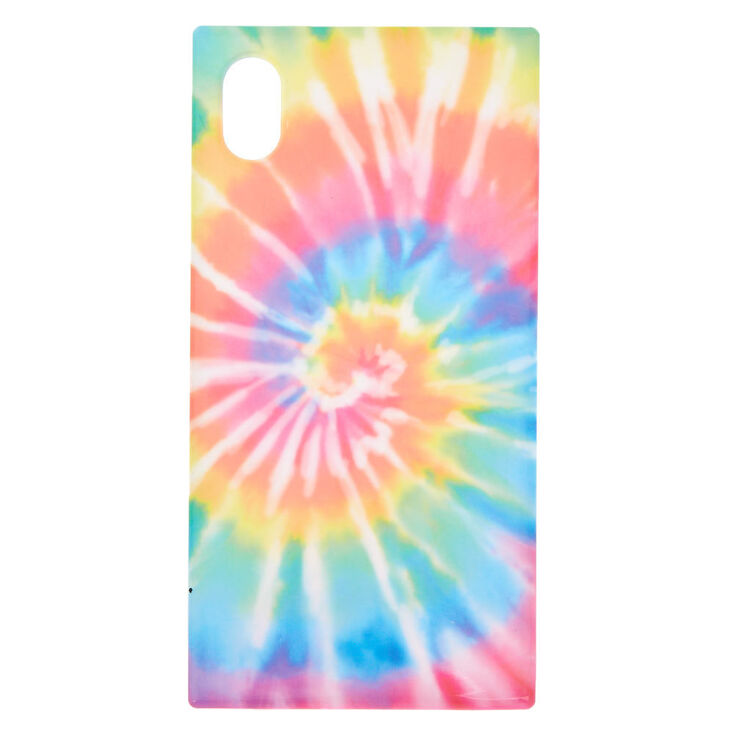 Tie Dye Square Phone Case - Fits iPhone XR,